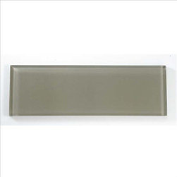 """4""""x12"""" Glass Wall Tile, Silver Spring, 1 Box/4.88 Square Feet - Sold by the Box - 4.88 Square Feet per box"""