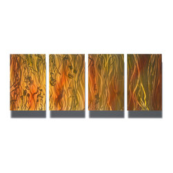 Miles Shay - Metal Art Wall Art Decor Abstract Contemporary Modern Sculpture Hanging- Flow - This Abstract Metal Wall Art & Sculpture captures the interplay of the highlights and shadows and creates a new three dimensional sense of movement as your view it from different angles.