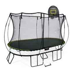 Springfree Trampoline - Springfree® 8x13ft Trampoline - O92 Large Oval With FlexrHoop and FlexrStep - * World's safest trampoline