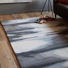 Faded Ikat Wool Rug | west elm