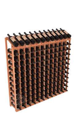 Wine Racks America - 144 Bottle Display Top Wine Rack in Redwood, (Unstained) - Present 12 of your best bottles label up for easy appreciation. Display top wine racks are perfect for commercial or residential environments as they match our modular rack specifications. Engineered to be rock solid, we guarantee it will last. Designed to be elegant, you'll love these racks. We guarantee it.