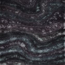 """Loloi - Loloi Glamour Shag Gs05 Midnight Rug 5'-0"""" X 7'-6"""" - The Glamour Shag Collection takes the shag category to the next level with its chic look and alluring texture. The contemporary collection of soft, thick, textured shags features a subtle color palette with luxe tonal shading and shimmer that gives instant appeal. This smart collection is made in India of 100-percent polyester."""