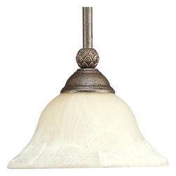 Progress Lighting - Progress Lighting P5146-86 One-Light Mini-Pendant With Antique Alabaster Glass - One-light mini-pendant.