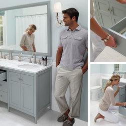 "Double Sink Vanity 60"" Wide - RB 60.5"" wide Brilla Vanity Collection"