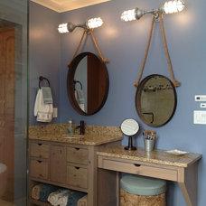 Beach Style Bathroom by Dan J. Heid - Planning & Design