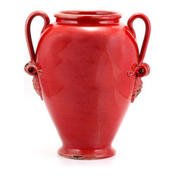 Artistica - Hand Made in Italy - SCAVO CLASSICO: Umbrella Stand Vase RED - SCAVO CLASSICO: Combining simplicity and elegance for your home and Garden...
