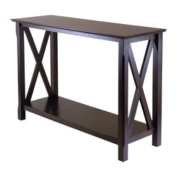 Winsome - Winsome Xola Console Table in Cappuccino Finish - Winsome - Console Tables - 40445 -The x in Xola stands for the x design on the console table. A cross between traditional and modern design, this table is perfect addition to your home.
