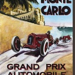 Artcom - Monte Carlo Grand Prix by Chris Flanagan - Monte Carlo Grand Prix by Chris Flanagan is a Stretched Canvas Print.