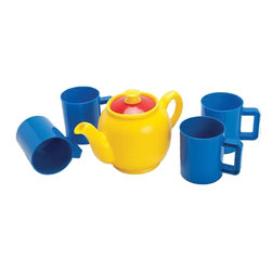 The Original Toy Company - The Original Toy Company Kids Children Play Tea Set - Great Value on this Danish made Tea Set is one of the finest in the world today for children. This set comes with one tea pot, and 4 mugs/cups, for hours of imaginative play. Comes packed in a clear net bag. Weight: 2 lbs.