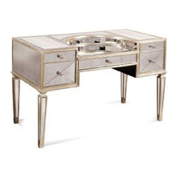 Bassett Mirror - Borghese Mirrored Desk - 8311-579 - Mirrored Desk