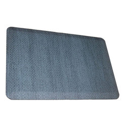 Rhino Anti-Fatigue Mats - Comfort Mats: Rhino Anti-Fatigue Mats Safety Supplies Housewares Sonora Bermuda - Shop for Flooring at The Home Depot. Our Comfort Craft Housewares Premium line was designed to bring commercial grade comfort to the home. These mats come in 80 different styles and colors to match any existing color schemes in your home. Our Housewares line has set a new standard for high end kitchen matting. The days of crinkled wrinkled and rolled up mats that constantly require straightening and cause trip hazards are over. This mat will stay where you put it exactly like you want. No sliding or wrinkling. Color: Bermuda Blue.