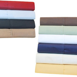 Bed Linens - Egyptian Cotton 530 Thread Count Solid Sheet Sets Full Chocolate - 530 Thread Count Solid Sheet Sets