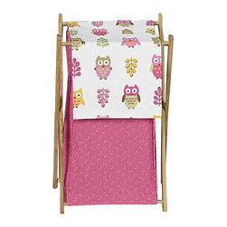 Sweet Jojo Designs - Happy Owl Laundry Hamper by Sweet Jojo Designs - The Happy Owl Laundry Hamper by Sweet Jojo Designs, along with the bedding accessories.