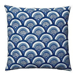 Indigo Kyoto Pillow - These sweet swirls of blue will remind you of the sea.