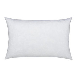 """Feather-Down 24""""x16""""  Pillow Insert - Plump up an accent pillow cover with a plush blend of white duck feathers and white down. Cotton cambric shell. Overlocked safety stitching finishes the edges. Bed pillows also available."""
