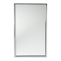 "Holly & Martin - Roxburgh Wall Mirror, Chrome - The contemporary elegance of this wall mirror will bring a pleasantly distinct style to your home. The metal frame is finished in brilliant chrome that will add a ""wow"" factor to your home. This elegant mirror can be used to achieve a formal atmosphere or a casual contemporary home setting."