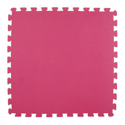 Greatmats - Greatmats Foam Floor Tile, 10 Pack, Pink - This is a 10 pack of tiles. Free Shipping. Each tile is 2x2 ft in size and covers 4 SF, this 10 pack of foam tiles will cover 40 SF. 2 Border strips included per tile. Ships ground to your door.