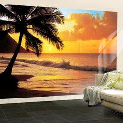 Pacific Sunset Huge Wall Mural Art Print Poster -