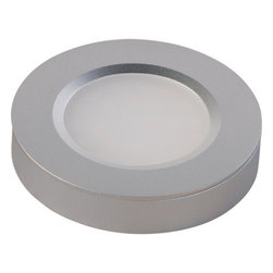ET2 - ET2 E53850 LED Disc Add-On from the CounterMax Collection - ET2 E53850 CounterMax LED Disc Add-OnA brilliant design that allows for surface mounting or recessed installation, this LED add-on disc must be used with a starter kit (e53853). No more than three LED add-on discs can be added to a single starter kit. Each LED add-on disc includes a 36'' connection cord.The versatile CounterMax MX-LD-R LED disc features two piece aluminum construction that allows for both surface mounting or recessed installation. Each disc operates at a fraction of the cost of halogen or xenon discs by consuming less than 1 watt of electricity.ET2 E53850 Features: