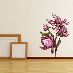 Floral Flower Vinyl Wall Decal FloralFlowerUScolor115; 12 in. - Vinyl Wall Decals are an awesome way to bring a room to life!