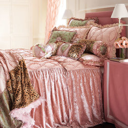 Dian Austin Couture Home 'Sweet & Sassy' Bed Linens - This dusty pink bed set is fit for a queen! Talk about posh pampering. And the hint of leopard makes it even more risqué and playful.