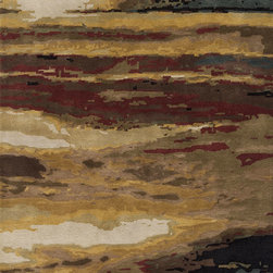 "Impressions IP-04 Sun Rug - 3'6""x5'6"" - The Impressionist style of painting was influenced by nature, light and scenes from daily life; these rugs capture these elements in a hand-tufted construction that makes these pieces modern masterpieces. Impressions utilizes 100% wool in a warm color palette that evokes a landscape at sunset. Beautiful in its simplicity, this collection will become art for your floor."