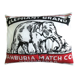 Koko Company - Koko Company Match Elephant Brand Pillow Sham Multicolor - 91571 - Shop for Pillowcases and Shams from Hayneedle.com! Think of the Koko Company Match Elephant Brand Pillow Sham as that perfect spark for your decor. After all the red and black color scheme is modeled after antique Indian matchboxes and this particular design features a friendly elephant who's happy to add a little exotic allure to your sofa or bed setup. The cover is made of cotton and is even machine washable. You'll just need to use the gentle cycle and a cold water temperature.About The Koko CompanyFor over 10 years The Koko Company has been pouring heart and soul into bringing you a vibrant diverse collection of pieces to suit your unique style. From pillows and bedding to rugs and throws every piece is both versatile and distinctive each playing its own part in a grander global vision. Located in Long Island City NY but influenced and inspired by an array of cultures and fashions The Koko Company strives to bring the subtle elegance of natural fibers and organic design to your home accents.