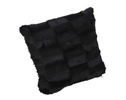Roberto Amee - Roberto Amee Mink Faux Fur Pillow - The Roberto Amee mink fur faux pillow makes a beautiful attraction to any room. It is both luxurious and incredibly attractiv Manufacturer: Roberto Amee. Retail Packaged: Bulk. UPC Coded: Yes. Materials: Black Mink 3 inch pelts (faux fur Dimensions: 12 inches wide x 12 inches high. How packaged: 1 per box. Care instructions: Machine washable. Features: Extremely soft and comfortable. Fill is extremely plush and irresistible. Sold Individually  Please note: If there is a color/size/type option, the option closest to the image will be shipped (Or you may receive a random color/size/type).