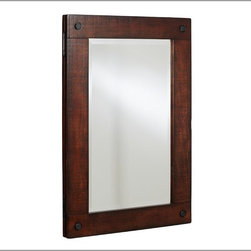 Benchwright Recessed Medicine Cabinet - This medicine cabinet has a great rustic frame.
