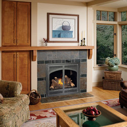 Linear Gas Fireplaces - Avalon 864 High Output linear gas fireplace. The ultimate high-performance gas fireplace combines a beautiful flame with the greatest heat output of the 864 family of fireplaces.,