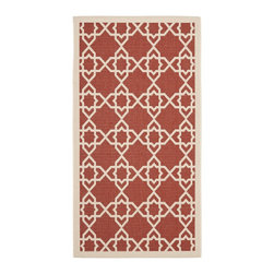 Safavieh - Safavieh Courtyard Transitional Rug X-3-842-2306YC - Safavieh takes classic beauty outside of the home with the launch of their Courtyard Collection. Made in Belgium with enhanced polypropylene for extra durability, these rugs are suitable for anywhere inside or outside of the house. To achieve more intricate and elaborate details in the designs, Safavieh used a specially-developed sisal weave.
