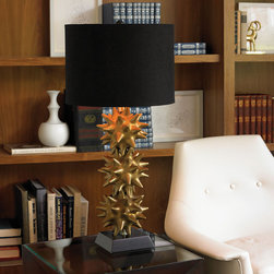 Urchin Gold Lamp - I love this sea urchin lamp from DwellStudio. It's totally one of my favorites.