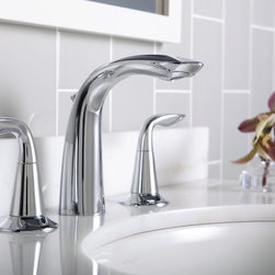 Kohler Refinia Bathroom Sink Faucet K-5317-4 - With soft lines inspired by nature, the Refinia faucet mimics the gentle, optimist uncurling of a sprouting plant. Elegant, yet understated, the Refinia lets homeowners celebrate the beauty and fluidity of organic forms - while also showing their appreciation for smart functionality.