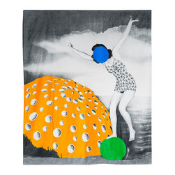 Art Productions - John Baldessari Towel - This oversized cotton towel features work from esteemed conceptual artist John Baldessari. Part of the proceeds is donated to the Art Production Fund, a non-profit arts organization dedicated to providing artists with necessary production assistance. You can use this as a beach towel or an inspiring wall decor.