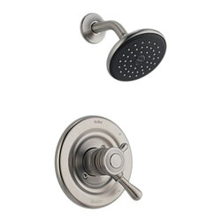 Delta - Delta T17278-SS Leland Monitor 17 Series Shower Trim (Stainless) - The Leland collection features a chess-piece like design and modern style, giving your home a beautiful touch.