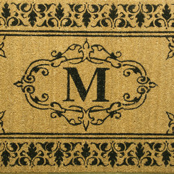 Vineyard Monogrammed Outdoor Welcome Doormat - This mat is slightly more formal. If that's the tone you would like in your entry, then this monogram is perfect.