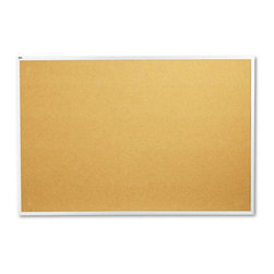 Quartet - Quartet 72 x 48 in. Natural Cork/Fiberboard Bulletin Board with Aluminum Frame M - Shop for Bulletin Boards from Hayneedle.com! Increase productivity and efficiency in your workplace by using the Quartet 72 x 48 in. Natural Cork/Fiberboard Bulletin Board with Aluminum Frame. This board is made from long-lasting and self-healing cork material. It s ideal to display important information reminders bulletins and pictures as well. An aluminum frame makes it attractive and durable. With a secure mounting system you can easily install the board. The board is made in the USA and will complement most work settings.About United StationersDedicated to making life in the office more organized efficient and easier United Stationers offers a wide variety of storage and organizational solutions for any business setting. With premium products specifically designed with the modern office in mind we're certain you will find the solution you are looking for.From rolling file carts to stationary wall files every product in the United Stations line is designed with one simple goal: to improve office efficiency. In turn you will find increased productivity happier more organized employees and an office setting that simply runs better with the ultimate goal of increasing bottom line profits.