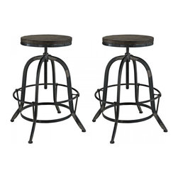 Modway Imports - Modway EEI-1603-BLK-SET Collect 2 Piece Dining Set In Black - Modway EEI-1603-BLK-SET Collect 2 Piece Dining Set In Black