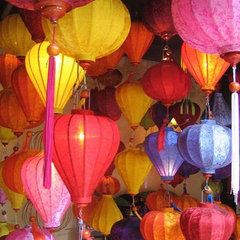 o so boho / silk lanterns