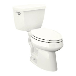 KOHLER - KOHLER K-3519-0 Highline Comfort Height Elongated 1.0 GPF Toilet - KOHLER K-3519-0 Highline Comfort Height Elongated 1.0 GPF Toilet with Left-Hand Trip Lever, Less Seat in White