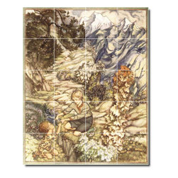 Picture-Tiles, LLC - King Of The Golden River Tile Mural By Arthur Rackham - * MURAL SIZE: 40x32 inch tile mural using (20) 8x8 ceramic tiles-satin finish.