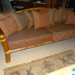 * Upholstery and Reupholstery work - Sofa re-upholstered. 1 sofa 2 looks pattern fabrics.