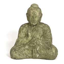 Sitting Buddha Statue in a Jade Color - *** FREE SHIPPING!! ***
