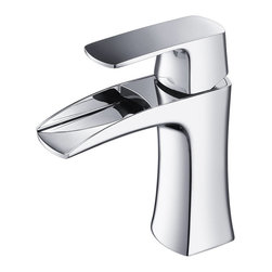 Fresca - Fresca Fortore Single Hole Mount Bathroom Vanity Faucet - Chrome - This single hole faucet is made from heavy duty brass with a chrome finish.  Features ceramic mixing valve for longevity and watertight functionality.