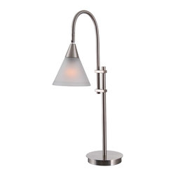 Kenroy - Kenroy 32233BS Brady Desk Lamp - A modern duet, the Brady torchiere is sleek up-lighting with a position-able side lamp for convenient down and task illumination.  The adjustable desk lamp allows focused light just where it's needed.