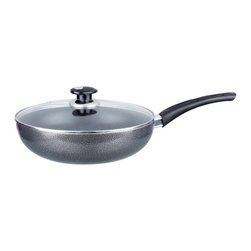 Brentwood - Brentwood Aluminum Non-Stick Gray Wok with Lid Multicolor - BWL-405 - Shop for Woks & Stir Fry Pans from Hayneedle.com! If you're trying to eat more healthy the Brentwood Aluminum Non-Stick Gray Wok with Lid is a handy tool to have on your side. Great for stir frying steaming pan frying poaching boiling brazing searing stewing and lots of other cooking methods it has a 3-mm heavy gauge aluminum base for fast and even heating. It has heat-resistant bakelite handles and a tempered glass lid that lets you monitor your food as it cooks.About Brentwood Appliances Inc. Based out of Vernon California Brentwood Appliances Inc. was founded in 1985 and they are proud to deliver the upmost quality in small household appliances and cookware. They have had products in the market for nearly 30 years and stand behind any product bearing their logo. They strive to provide top-notch customer service and attractive products at an affordable price.
