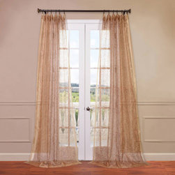 Half Price Drapes - Esparanza Rust 50 x 84-Inch Embroidered Sheer Curtain - - HPD has redefined the construction of sheer curtains and panels. Our Embroidered Sheer Collection are unmatched in their quality. Each panel creates a beautiful diffusion of light  - Single Panel  - Non-Weighted  - Pole Pocket  - Cleaning/Care: Dry Clean Half Price Drapes - SHCH-EMB20137-84