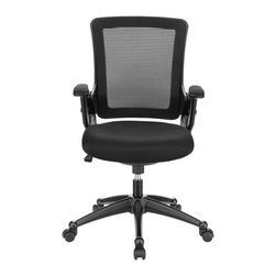 LexMod - Aspire Fabric Office Chair in Black - Capture some great moments of productivity with an office chair made just for you. Aspire features a fully-ventilated mesh back; waterfall foam padded seat; height adjustable arms; and a heavy nylon base with five dual-wheel casters. It's everything you need in an office chair with the sturdy build and personal fit that keeps you looking forward.