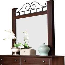 Standard Furniture - Standard Furniture Charleston Rectangular Mirror in Brown Cherry - Charleston Bedroom, like its namesake city, is grand and stately with a legacy of styling heritage.