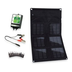 Nature Power - Nature Power 18-Watt Folding Solar Panel with 8-Amp Solar Charge Controller - This 18-watt folding solar panel is lightweight, portable, water resistant and will charge laptops directly using the included adaptors, as well as charge 12-volt rechargeable batteries.